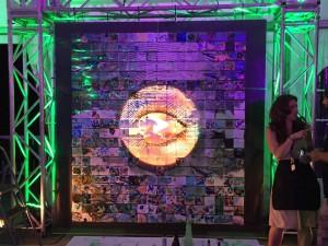 Nathalie's work of art at the festival.